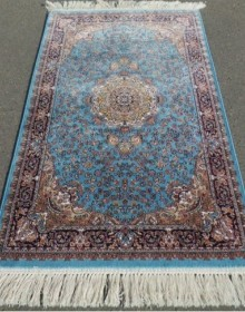 Иранский ковер Silky Collection D-015-1069 blue - высокое качество по лучшей цене в Украине.