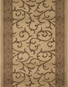 Безворсовая ковровая дорожка Sisal 014 beige-gold - высокое качество по лучшей цене в Украине.