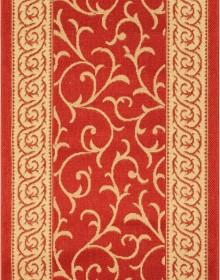 Безворсовая ковровая дорожка Sisal 014 red-cream - высокое качество по лучшей цене в Украине.