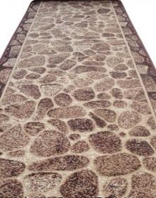Синтетическая ковровая дорожка Silver 307-12 Kamni New brown - высокое качество по лучшей цене в Украине.