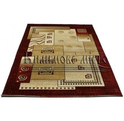 Синтетический ковер Super Elmas 3055B ivory-d.red - высокое качество по лучшей цене в Украине.