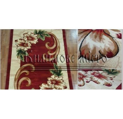 Синтетическая ковровая дорожка Virizka 131 red - высокое качество по лучшей цене в Украине.