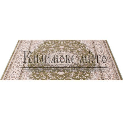 Высокоплотная ковровая дорожка Esfehan 4878A green-ivory - высокое качество по лучшей цене в Украине.