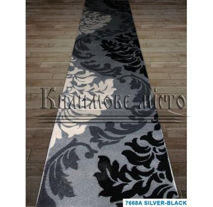 Синтетическая ковровая дорожка Sierra 7668A silver-black - высокое качество по лучшей цене в Украине.