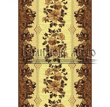 Синтетическая ковровая дорожка Silver  / Gold Rada 025-12 brown - высокое качество по лучшей цене в Украине.