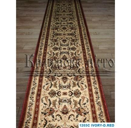 Синтетическая ковровая дорожка Super Elmas 1203C ivory-d.red - высокое качество по лучшей цене в Украине.