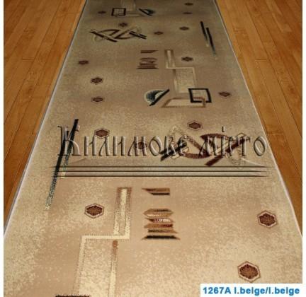 Синтетическая ковровая дорожка Super Elmas 1267A l.beige-l.beige - высокое качество по лучшей цене в Украине.