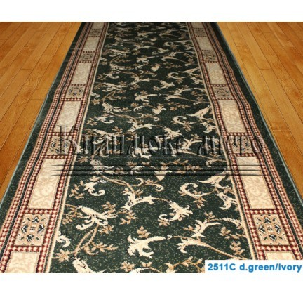 Синтетическая ковровая дорожка Super Elmas 2511C d.green-ivory - высокое качество по лучшей цене в Украине.