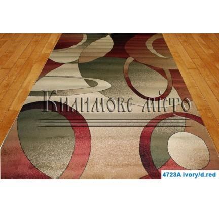 Synthetic runner carpet Super Elmas 4723A ivory-d.red - высокое качество по лучшей цене в Украине.