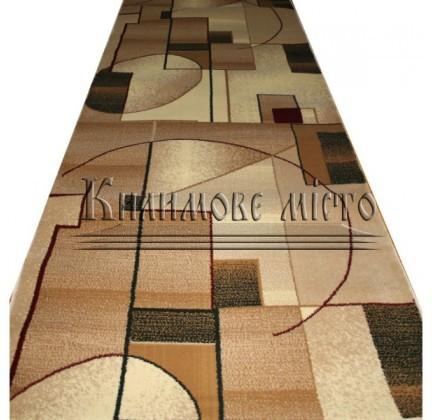 Синтетическая ковровая дорожка Super Elmas 1563A ivory-l.beige - высокое качество по лучшей цене в Украине.