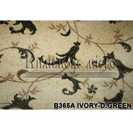 Синтетическая ковровая дорожка Super Elmas B365A ivory-d.green - высокое качество по лучшей цене в Украине.