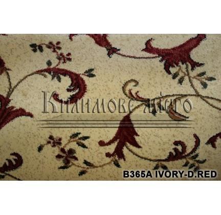 Синтетическая ковровая дорожка Super Elmas B365A ivory-d.red - высокое качество по лучшей цене в Украине.