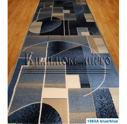 Синтетическая ковровая дорожка Super Elmas 1563A blue-blue - высокое качество по лучшей цене в Украине.