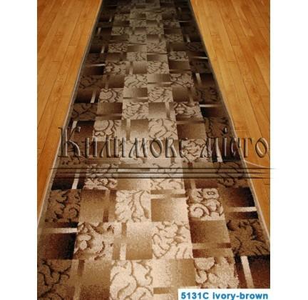 Синтетическая ковровая дорожка Super Elmas 5131C ivory-brown - высокое качество по лучшей цене в Украине.