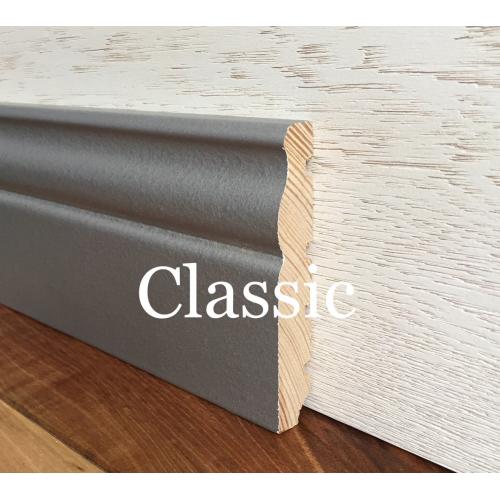 Плинтус напольный Классик Серебряно-серый 2,5м - изображение 1