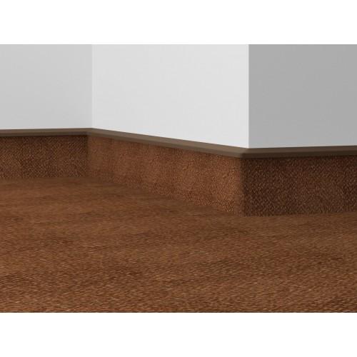 Плинтус для ковролина Dolken TLE 55-117 белый, 2,5 м - изображение 1