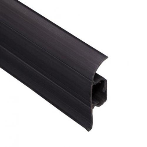 Плинтус ковровый ПВХ TIS графит 18х56х2500 мм  - изображение 1