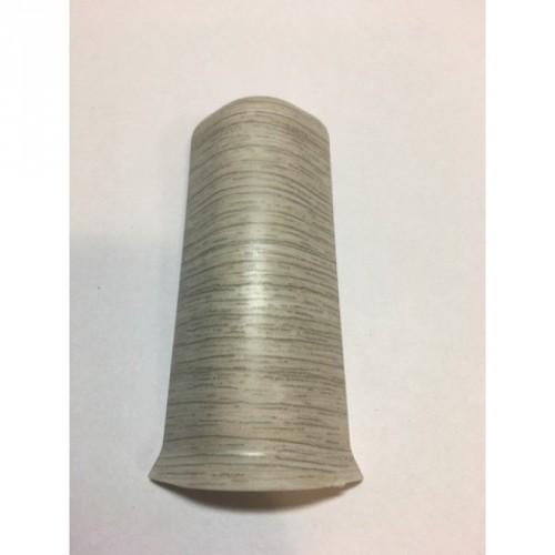 Угол к плинтусу внешний Стандарт серебряно-серый - изображение 1
