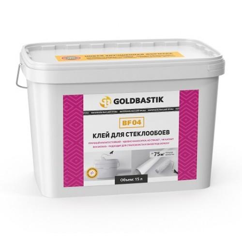Клей для стеклообоев «GOLDBASTIK BF 04» квадратное ведро 15кг. - изображение 1