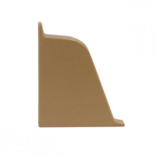 Заглушка к плинтусу  Dollken левая, коричневая  TL 51-132 - изображение 1