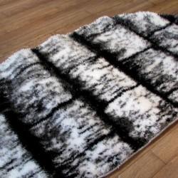 Високоворсний килим 3D Polyester B117 CREAM-BLACK  - Висока якість за найкращою ціною в Україні