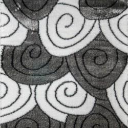 Высоковорсный ковер 3D Polyester B113 GREY-CREAM  - высокое качество по лучшей цене в Украине