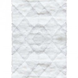 Высоковорсный ковер Softy 3D 2212A White  - высокое качество по лучшей цене в Украине