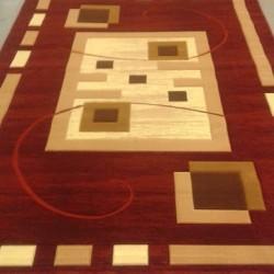 Синтетический ковер Liliya 0537 т.красный  - высокое качество по лучшей цене в Украине