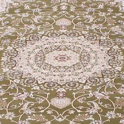 Высокоплотная ковровая дорожка Esfehan 4878A green-ivory  - высокое качество по лучшей цене в Украине
