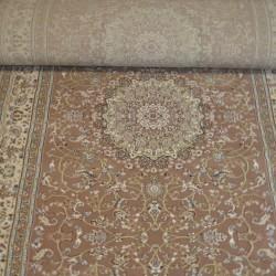 Высокоплотная ковровая дорожка Esfehan 4878A brown-ivory  - высокое качество по лучшей цене в Украине
