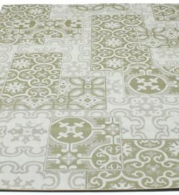 Безворсовый ковер Cottage 5474 wool-olive-green-8R01