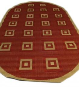 Безворсовый ковер Sisal 00012 red-cream