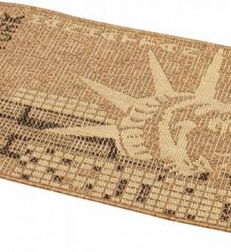 Безворсовый ковер Sisal 2390 , BROWN