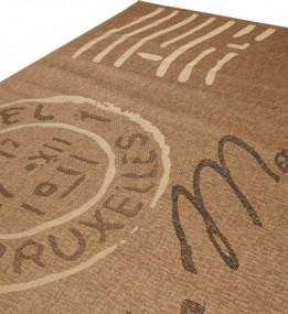 Безворсовый ковер Sisal 2392 , BROWN