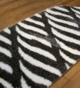 Високоворсний килим 3D Polyester B114 GREY-CREAM