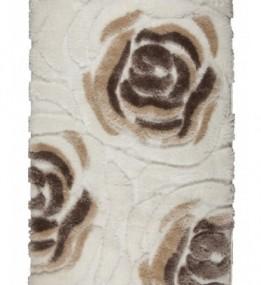 Високоворсний килим 3D Shaggy 691 , WHITE