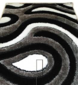 Высоковорсный ковер 3D Shaggy 2504 , BLACK
