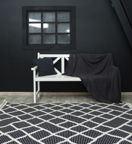 Высоковорсный ковер Bilbao Y619A ANTRASIT/WHITE