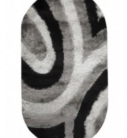 Високоворсный килим Flamento 5 127 , BLACK WHITE