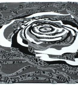 Высоковорсный ковер Luna 2452a p.black-p.grey
