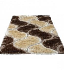 Високоворсний килим Therapy 6663A p.brown-p.beige