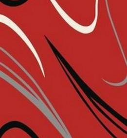 Синтетичний килим Elana (Фреза) 4882 red-black