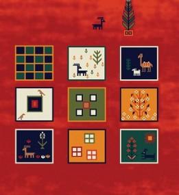 Иранский ковер Gabbeh Sepidah Red