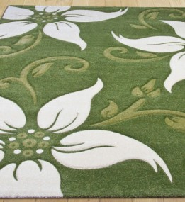 Синтетичний килим Legenda 0331 ромашка зелений