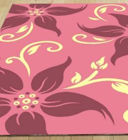 Синтетический ковер Legenda 0331 ромашка розовый