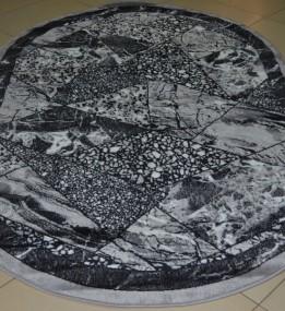 Синтетический ковер Magnoliya Silver мрамор серый