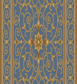 Ковер из вискозы Schenille 7427A blue