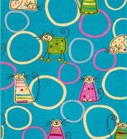 Детский ковер Funky Top Feline Szmaragd