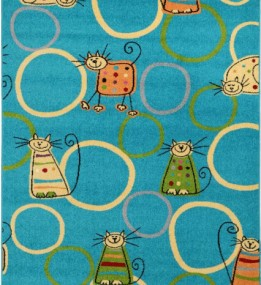 Детский ковер Funky Feline Turkus