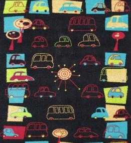 Детский ковер Funky Traffic Czarny
